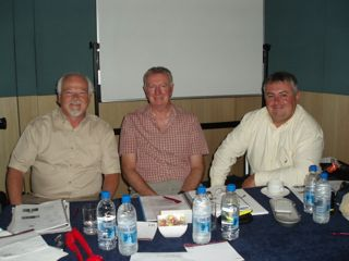 Not the three tenors, but three Profs!  Amundson Pryor and Bright ready to present in Brisbane 2007